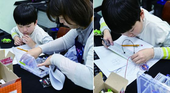 메이커교육 시민멘토는 스스로 만들기에 나선 영메이커들을 돕는 조력자의 역할을 한다.