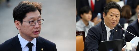 더불어민주당 김경수 의원(왼쪽)과 황희 의원. [뉴스1, 연합뉴스]