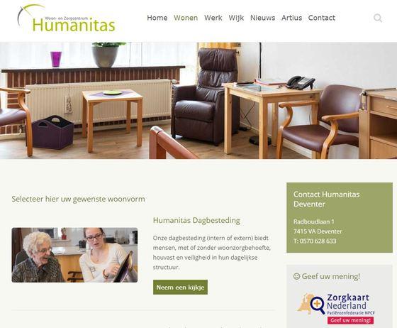 대학생과 고령층이 함께 사는 네덜란드의 휴머니타스(Humanitas)요양원. [사진 휴머니타스 홈페이지 (http://www.humanitasdeventer.nl/) 캡처]