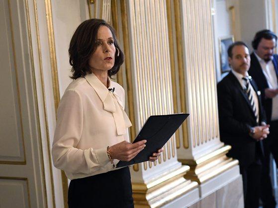 스웨덴 한림원 사라 다니우스 사무총장. [EPA=연합뉴스]