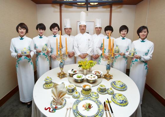 2014년 신라호텔에서 열린 댜오위타이 국빈만찬. 4년 만에 다시 한국에 소개된다. [사진 신라호텔]
