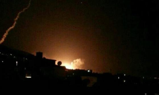 미국의 시리아 수도 공습[사진 The National]