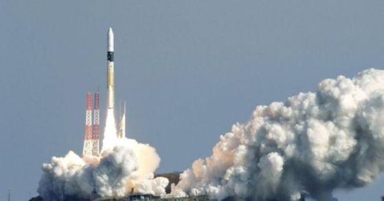 日 위성 탑재 로켓 발사 장면. [교도통신=연합뉴스]