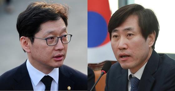 더불어민주당 김경수 의원(왼쪽), 바른미래당 하태경 최고위원. [뉴스1]