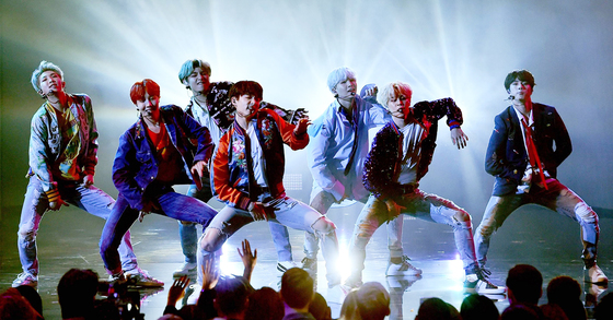 BTS performs onstage during the 2017 American Music Awards at Microsoft Theater on November 19, 2017 in Los Angeles, California. [Kevin Winter/AFP]