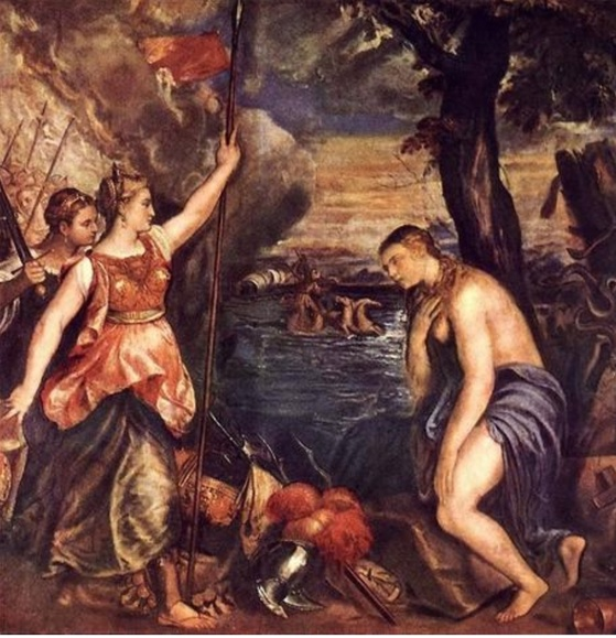 Tiziano, Religion Helped by Spain, 캔버스에 유화, 1571