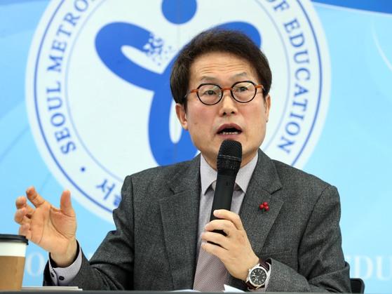 조희연 서울시교육감은 올 6월 지방선거에서 서울시교육감에 재도전하겠다는 의지를 표명해왔다. [연합뉴스]