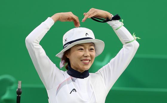 2016 리우 올림픽에서 2관왕에 오른 장혜진. [올림픽사진공동취재단]
