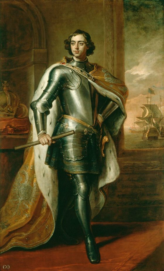 고드프리 넬러(1646~1723)가 1698년에 그린 표트르 대제의 초상화.