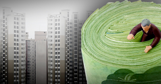 코픽스가 잔액기준으로 7개월 연속 상승함에 따라 17일부터 주택담보대출 이자가 오를 것으로 예상된다. [중앙포토]