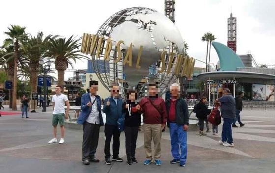 지난해 10월 미국 로스앤젤레스 유니버셜 스튜디오를 방문한 대구 남구의회 의원들. [사진 대구 남구의회]