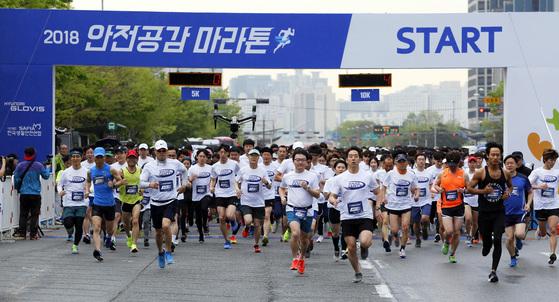 현대글로비스 2018 안전공감 마라톤대회