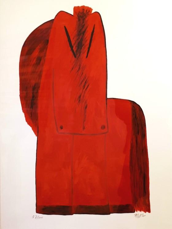 김점선, 빨간 말, 실크스크린 판화, 2004년 [사진 송민]