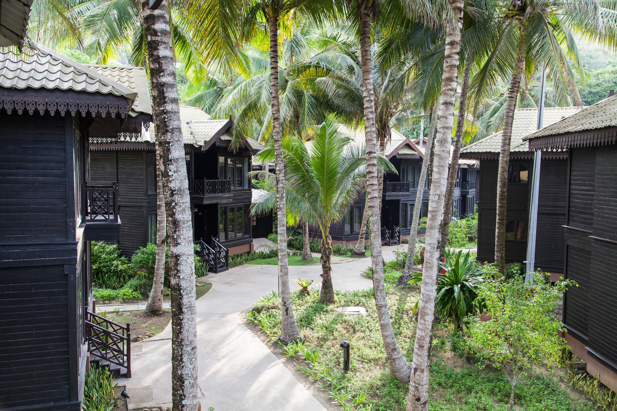 타라스 리조트는 르당 섬에서 최고급 숙소로 꼽힌다.