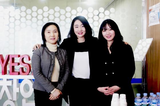 왼쪽부터 김현옥 전무, 홍혜영 대표, 성지 매니저