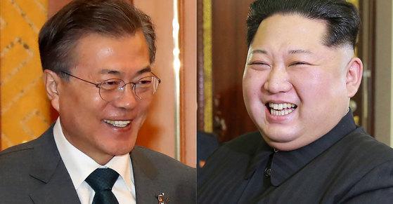 문재인 대통령과 김정은 북한 국무위원장 [중앙포토·연합뉴스]