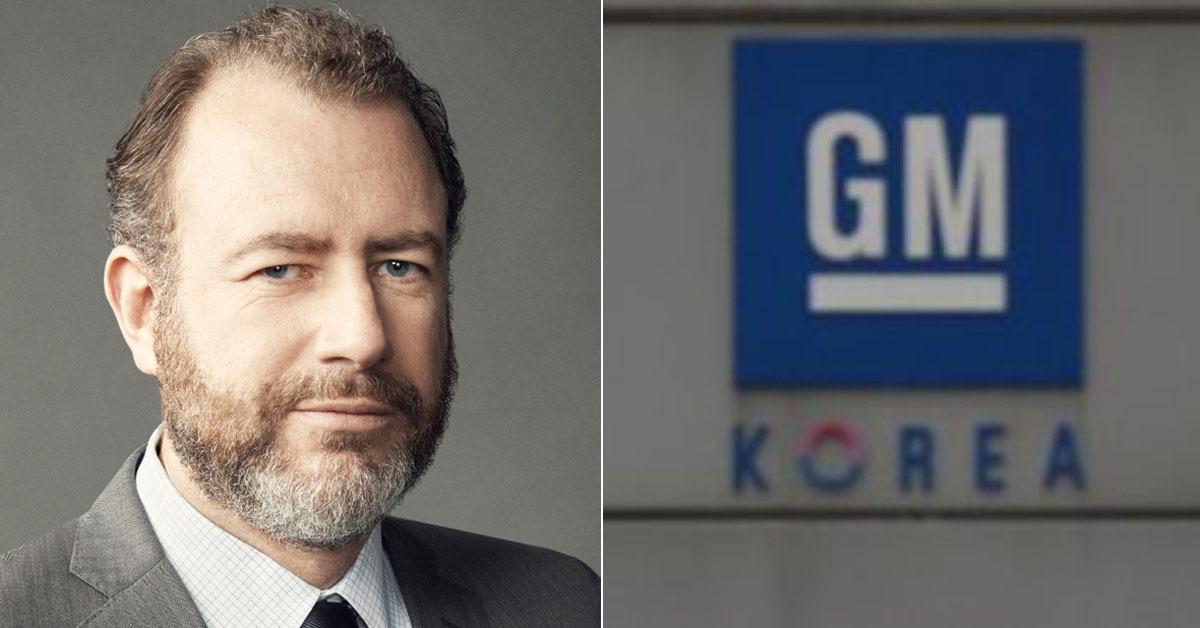 댄 암만 GM총괄 사장(왼쪽)과 GM부평공장 [뉴스1]
