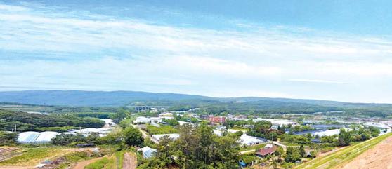 한국의 실리콘밸리로 개발되고 있는 제2·3 판교테크노밸리 인근에서 매각 중인 토지 사진.