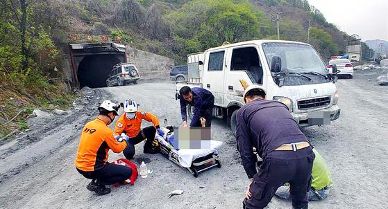 정선 철광산 갱도 붕괴 3명 사망