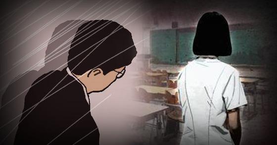 여제자를 상습적으로 성추행한 고등학교 교사에 법원이 집행유예를 선고했다. 피해자와 합의하고, 성추행 정도가 낮다는 게 이유였다. [연합뉴스]