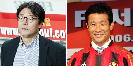 황선홍(左), 이을용(右)