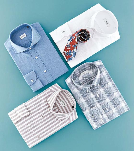 남자의 여유로움과 편안함을 콘셉트로 디자인한 브로이어 블루 셔츠 아이템. [사진 브로이어 블루]