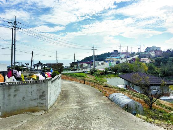 천지원전이 지어질 계획이었던 영덕군 영덕읍 석리 마을. 백경서 기자