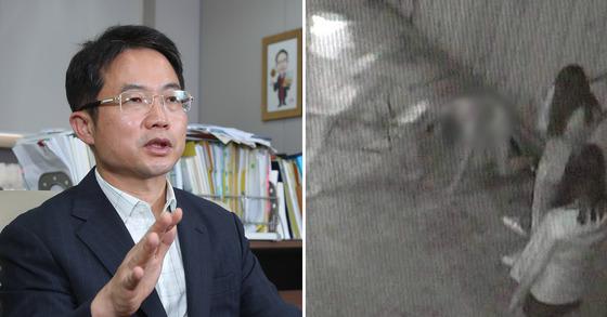 천종호 부산지법 부장판사(왼쪽), 지난해 9월 또래 여중생 4명에게 집단 폭행 당한 A양. [중앙포토]