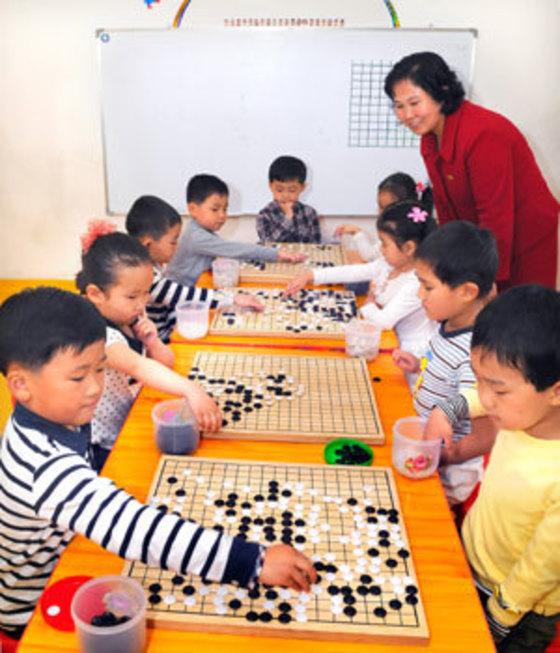 오디세이 북한바둑 사진. [중앙포토]