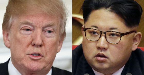도널드 트럼프 미국 대통령과 김정은 북한 국무위원장.[AP=연합뉴스]
