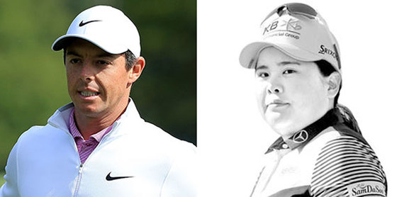 매킬로이(左), 박인비(右). [AFP=연합뉴스]