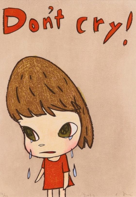 나라 요시토모, DON'T CRY, 목판화, 40.5×28.4㎝. (50/50).