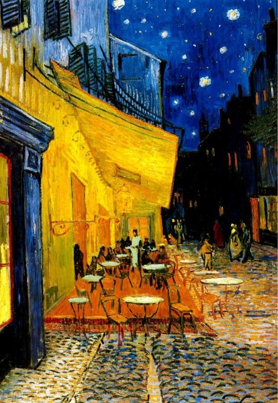고흐, 밤의 카페 테라스, 1888