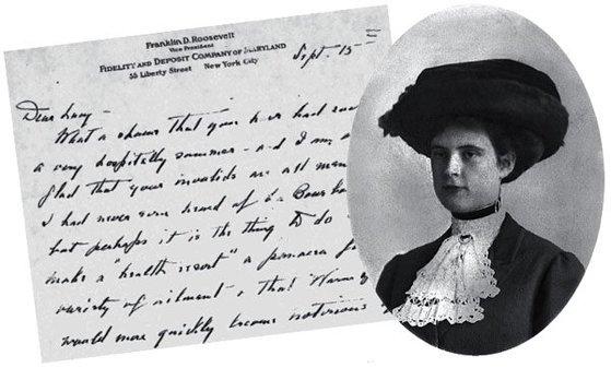 프랭클린 루스벨트 전 대통령이 연인 루시 머서에게 쓴 편지. [뉴욕타임스 캡처]