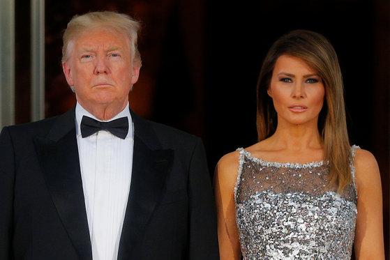 도널드 트럼프 대통령과 부인 멜라니아 트럼프. [로이터=연합뉴스]