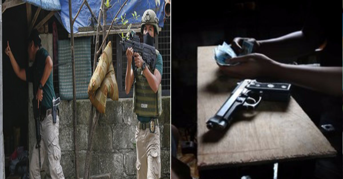 필리핀 마약과의 전쟁(왼쪽)과 필리핀 교민들 대상으로 청부살인 등 범죄 증가 이미지 사진(오른쪽) [EPA=연합뉴스, 중앙포토]
