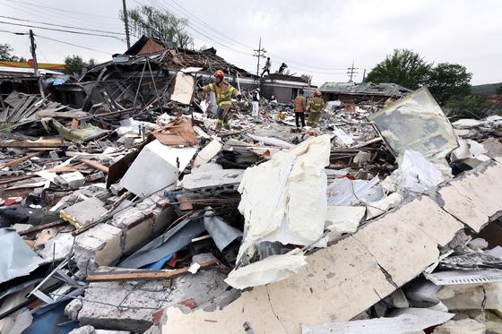 양주서 LP가스 폭발 2명 사망
