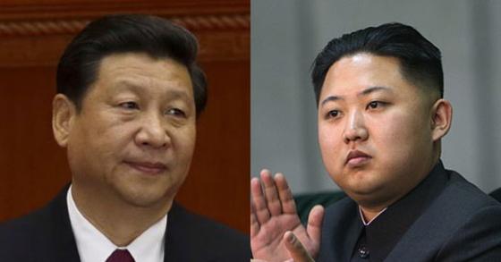 시진핑 중국 국가 주석과 김정은 북한 국무위원장. [AP=연합뉴스]