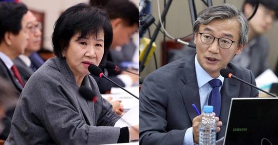 더불어민주당 손혜원 의원(왼쪽), 전재수 의원. [뉴스1, 연합뉴스]
