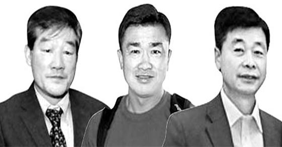 북한에 억류됐던 한국계 미국인 김동철·김상덕·김학송씨(왼쪽부터). [AP=연합뉴스, CNN 캡처]