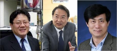 서울대 총장 후보 3인에 선정된 강대희 교수(왼쪽), 이건우 교수(가운데), 이우일 교수. [중앙포토]