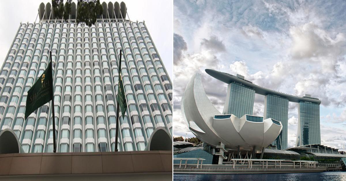 북미 정상회담 유력 후보지로 거론되는 싱가포르 샹그릴라 호텔(왼쪽)과 마리나베이샌즈 호텔(오른쪽) [싱가포르=연합뉴스, 중앙포토]