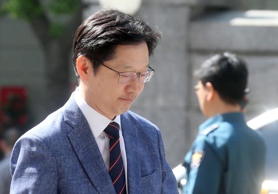 4일 김경수 더불어민주당 전 의원이 참고인 신분으로 서울경찰청에 출석했다. 최정동 기자