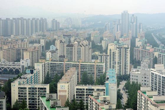 아파트가 밀집한 서울 서초구 일대 전경.
