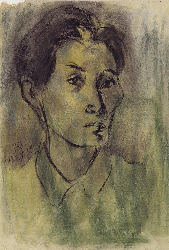조각가 김종영에게 '드로잉'은 사물의 본질을 탐구하는 과정이었다. '자화상'(1950). [사진 김종영미술관]