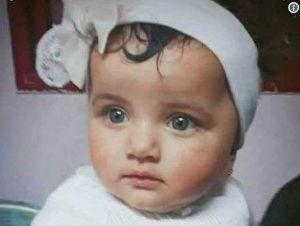 14일 이스라엘군의 무력 진압으로 사망한 8개월된 여자 아기 라일라 알 간도르. [사진 Palestinian Rights]