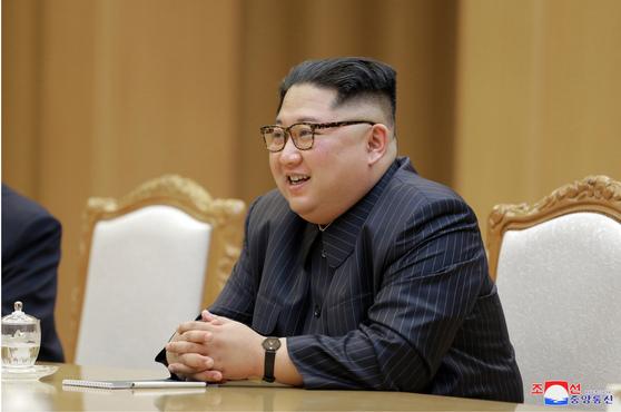 북한 김정은 국무위원장. [조선중앙통신=연합뉴스]