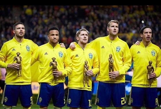러시아 월드컵에 나설 스웨덴 23명 명단이 확정됐다. [스웨덴축구협회 SNS]