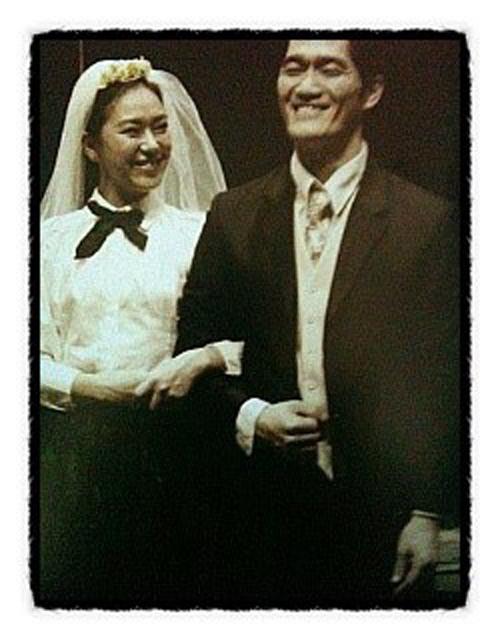 2010년 '크로이체르 소나타' 공연 사진. 남자주인공(장재호)와 여자주인공(지니)의 모습. [사진 박완]