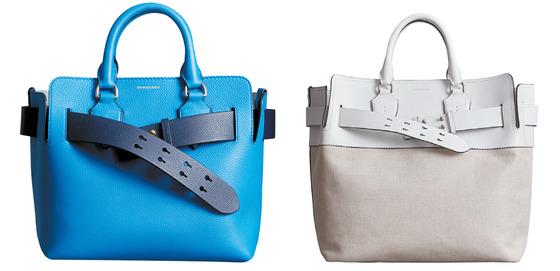 브랜드의 고유한 유산인 트렌치코트의 벨트에서 영감을 얻어 새롭게 출시한 벨트 백. 가방과 벨트의 다양한 컬러 조합이 특징이다.
